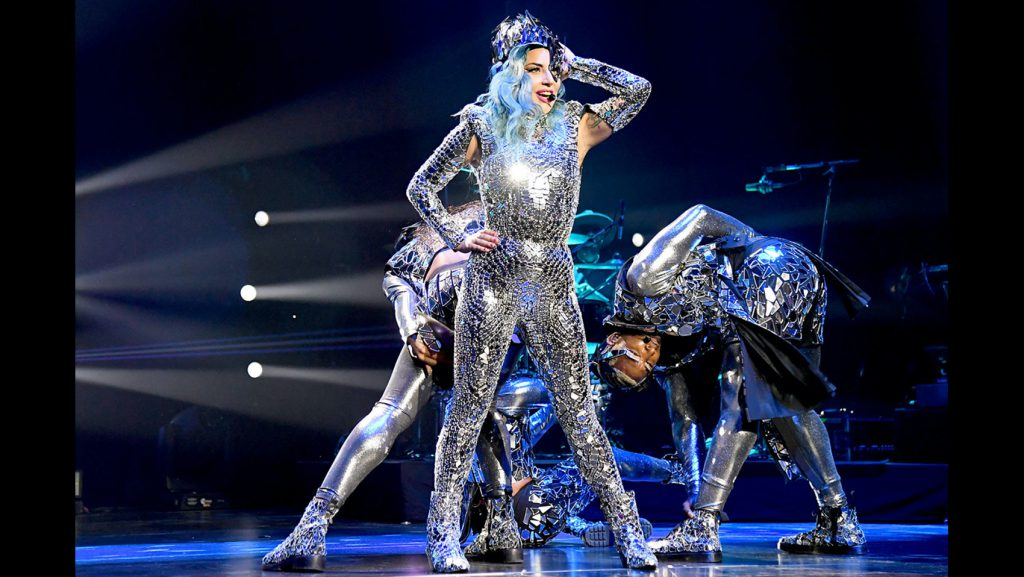 Lady Gaga performs in a still from the promo for AT&T's Super Saturday Night