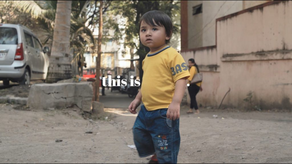 A little boy explores his city in a still from Urban95's Urban Explorers video