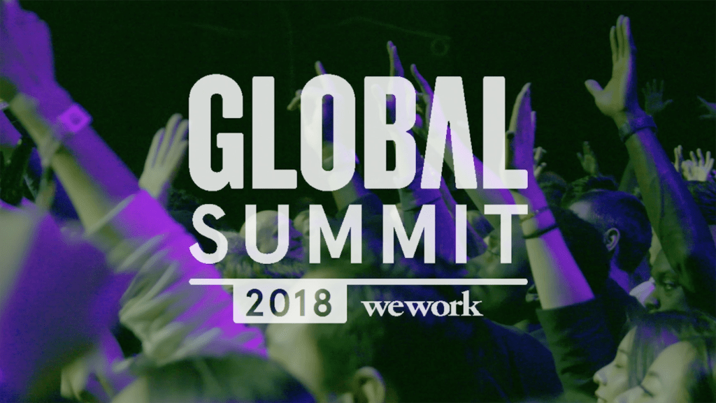 Still from WeWork Global Summit video, 2018