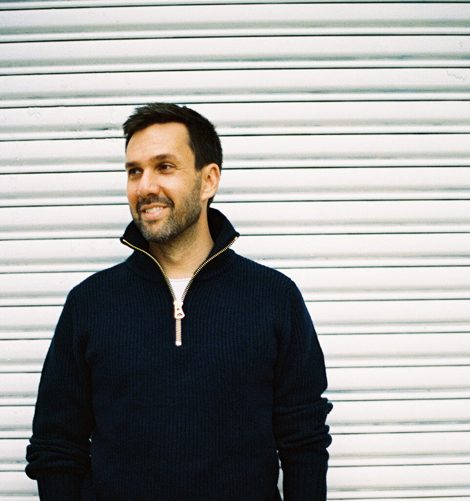 Venn Arts founder Jonathan Hecht, a music supervisor in DUMBO, Brooklyn, New York