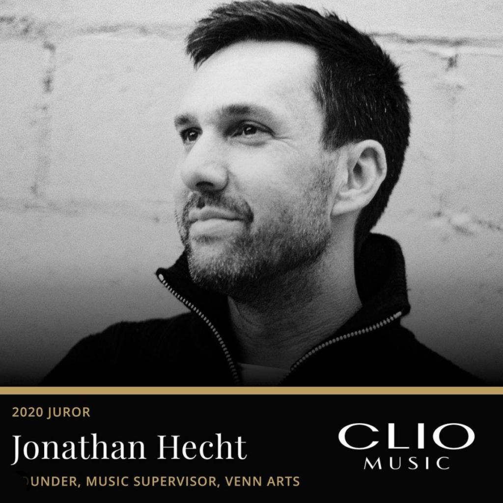 Jonathan Hecht in a publicity image announcing him as a Clio Awards juror