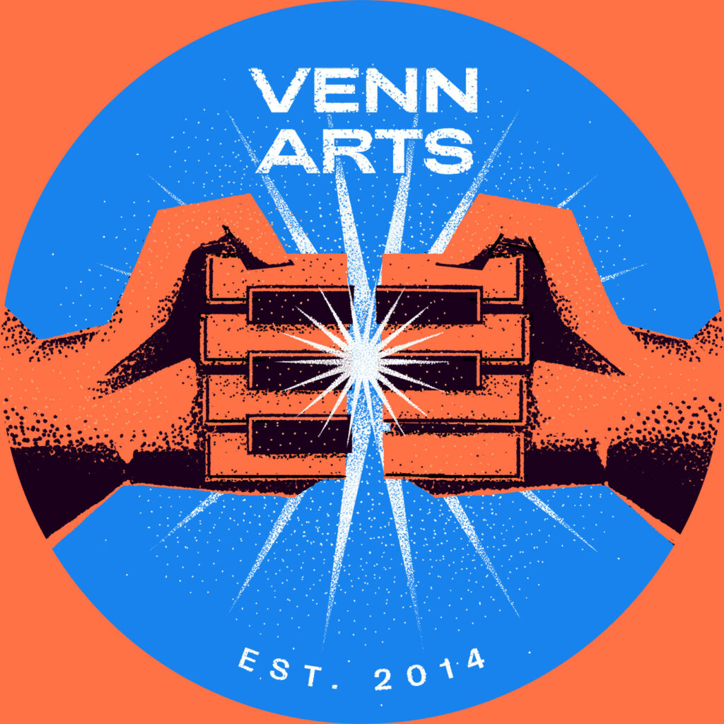 piano fists bump in an expression of collaboration from venn arts