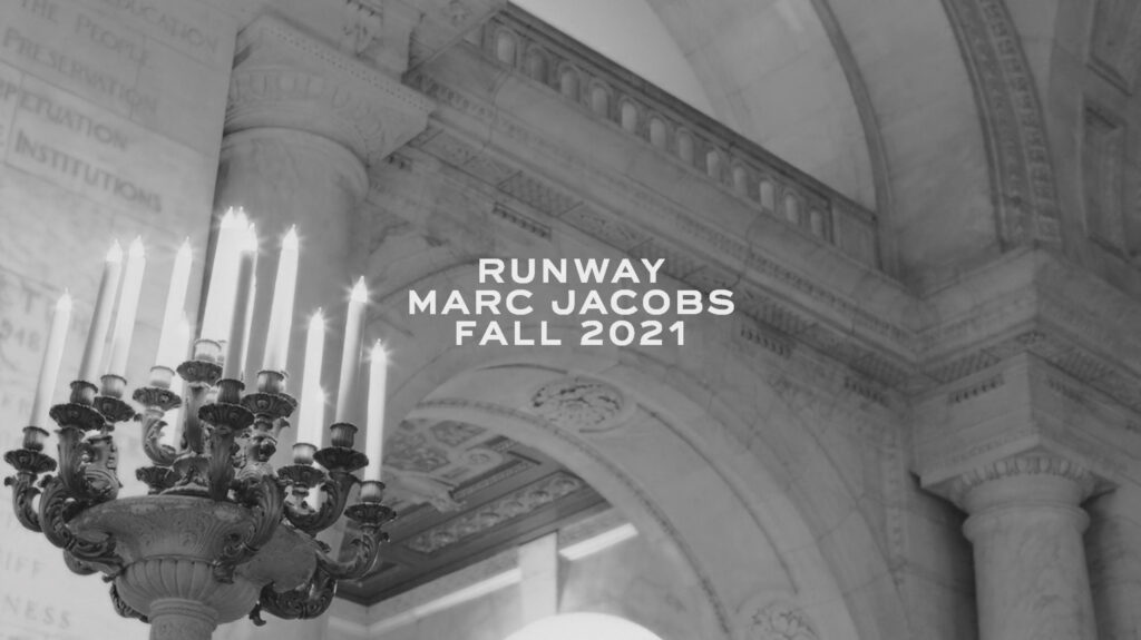 Inside New York Public Library on Fifth Avenue during the Marc Jacobs Fall 2021 show